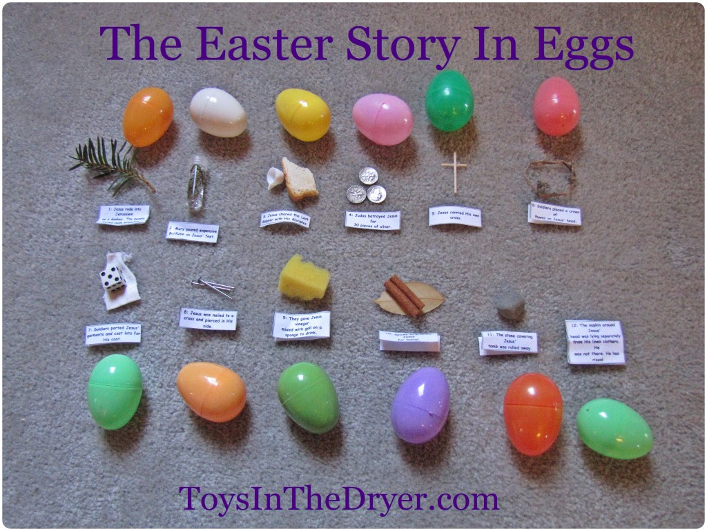 The Easter Story In An Egg Hunt Free Printable