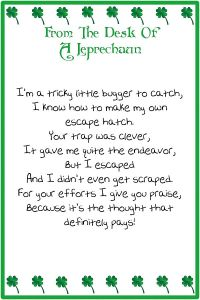 leprechaun note