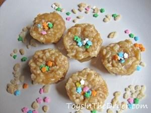 Salted Caramel Krispie Bites