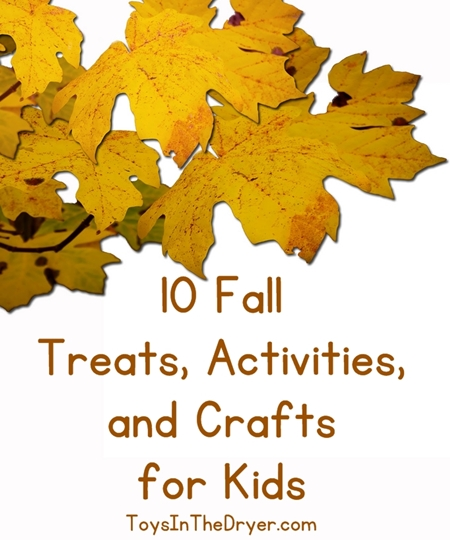 fall treats, activities, and crafts for kids