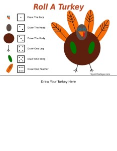 Roll A Turkey Game