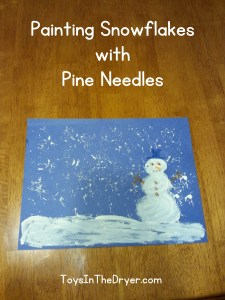 Painting Snowflakes with Pine Needles