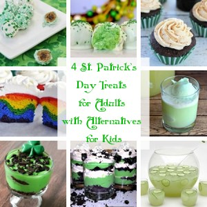 St. Patrick's Day treats for adults with alternatives for kids