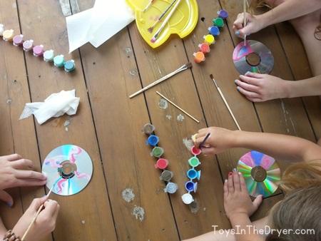 DIY CD spinning tops