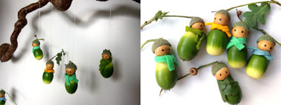 acorn crafts, acorn dolls