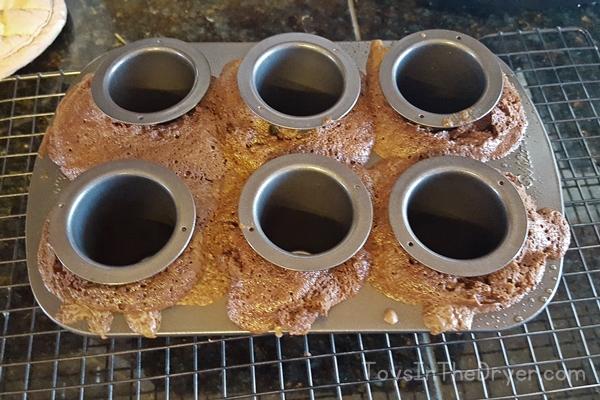 edible brownie shot glass dessert