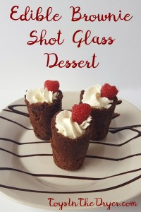 Edible Brownie Shot Glass Dessert