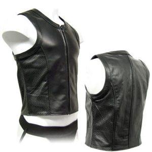 perforated black sleeveless