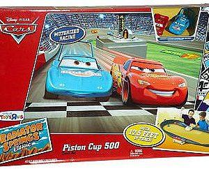 disney pixar s cars piston cup 500 track set with 2 cars