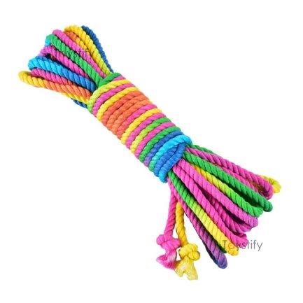 竹纖維高級捆綁繩 6mm – 七彩混色 8米