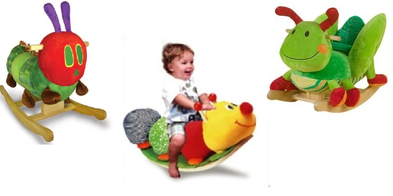 Plush Rocking Bugs for Babies and Toddlers