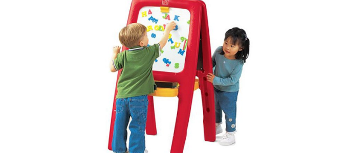 Toddlers Step2 Easel for Painting & Drawing – Includes Magnetic Letters & Numbers