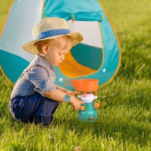 Kids Pop-up Play Tent & Camping Gear Set