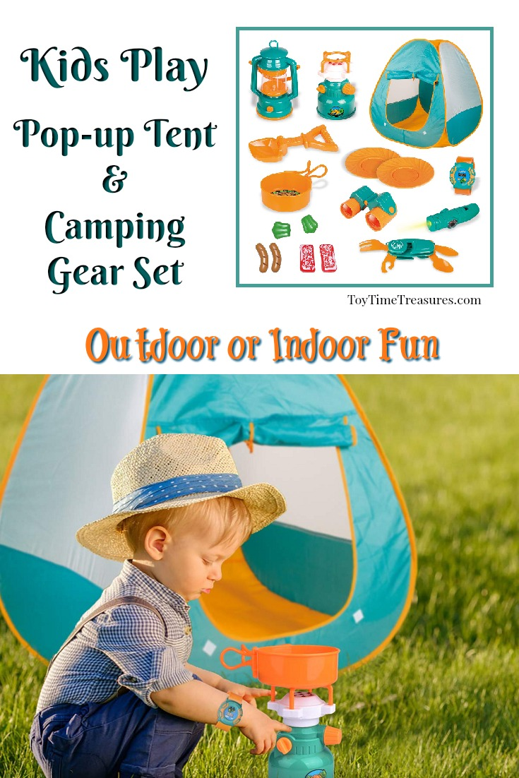 Kids Pop-up Tent with Camping Gear Set