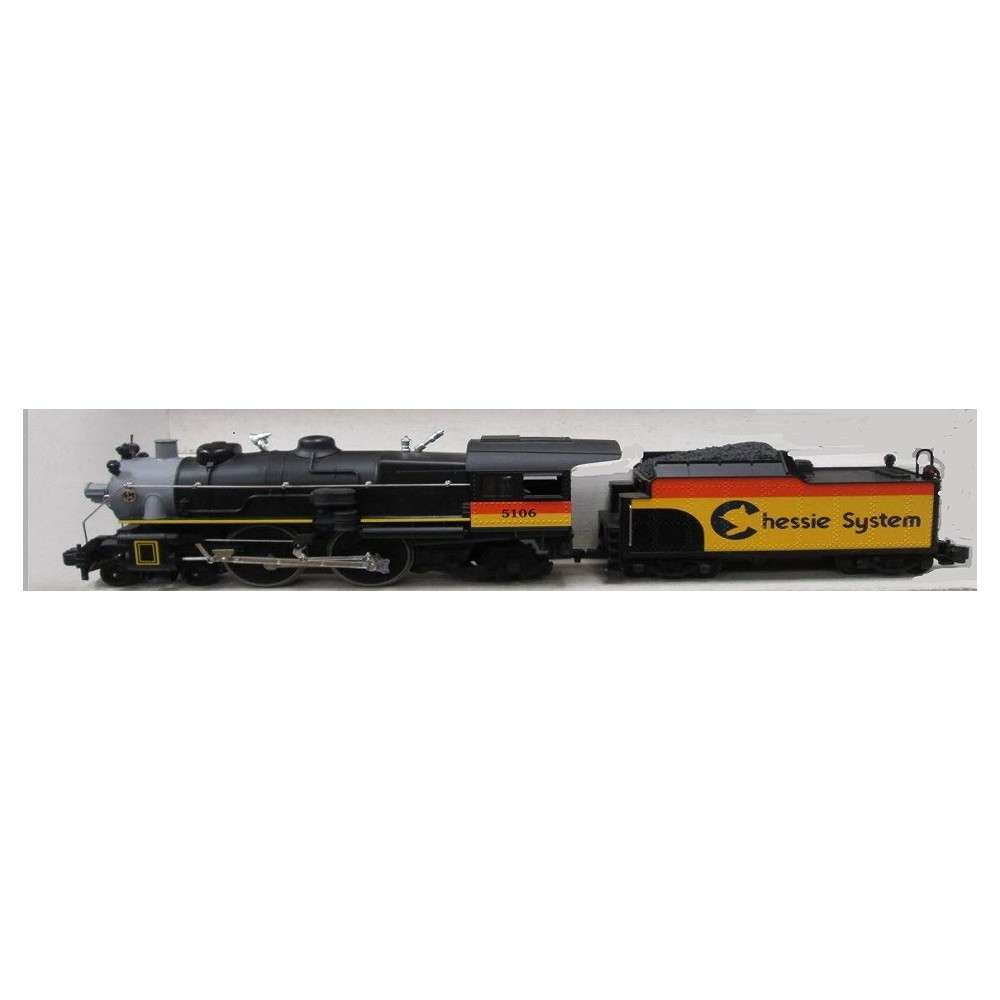 medium resolution of lionel 85106 4 4 2 chessie system atlantic steam locomotive and tender