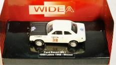 WIDEA 1-87 DIE CAST COLLECTIBLE CAR - Ford Escort MK 1 - 1000 Lakes 1968 Winner - No. 38 - 01