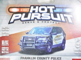 GREENLIGHT 1-64 HOT PURSUIT SERVE & PROTECT FRANKLIN COUNTRY POLICE 03