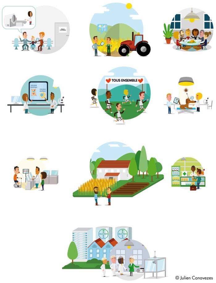 illustration de personnages et de métiers