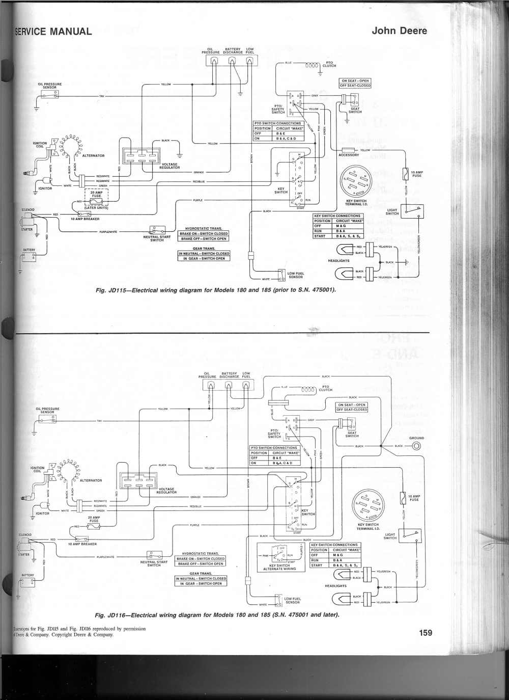 medium resolution of i dug up an electrical schematic for the 180 185 click to load the image in a window by itself then click scroll to zoom in