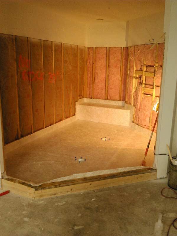 Custom Shower Pan Shower Base Installation Fiberglass Waterproofing Contractor Montgomery