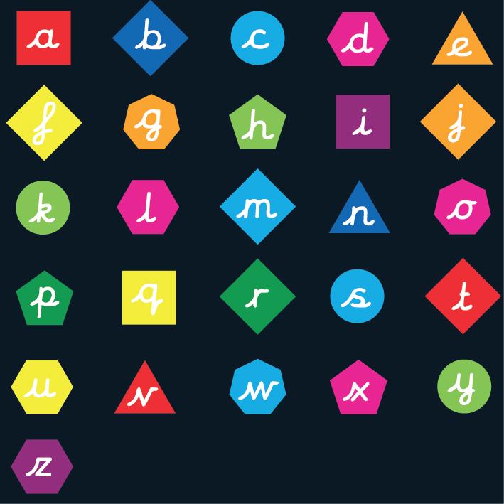 cursive letter shapes