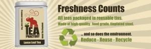 Tea Phactory Tins: Fresh Tea Counts