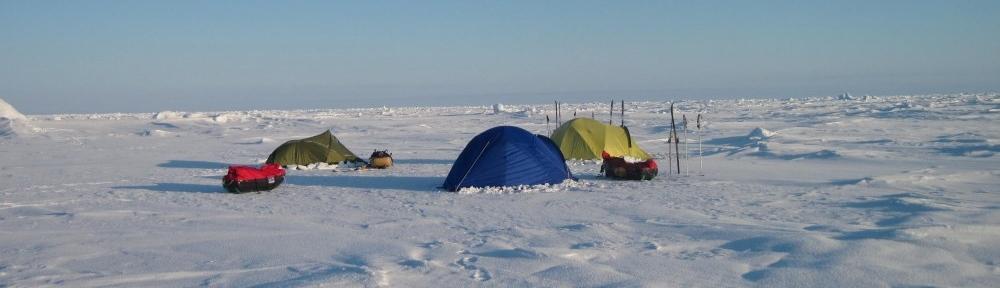 Camp on sea ice