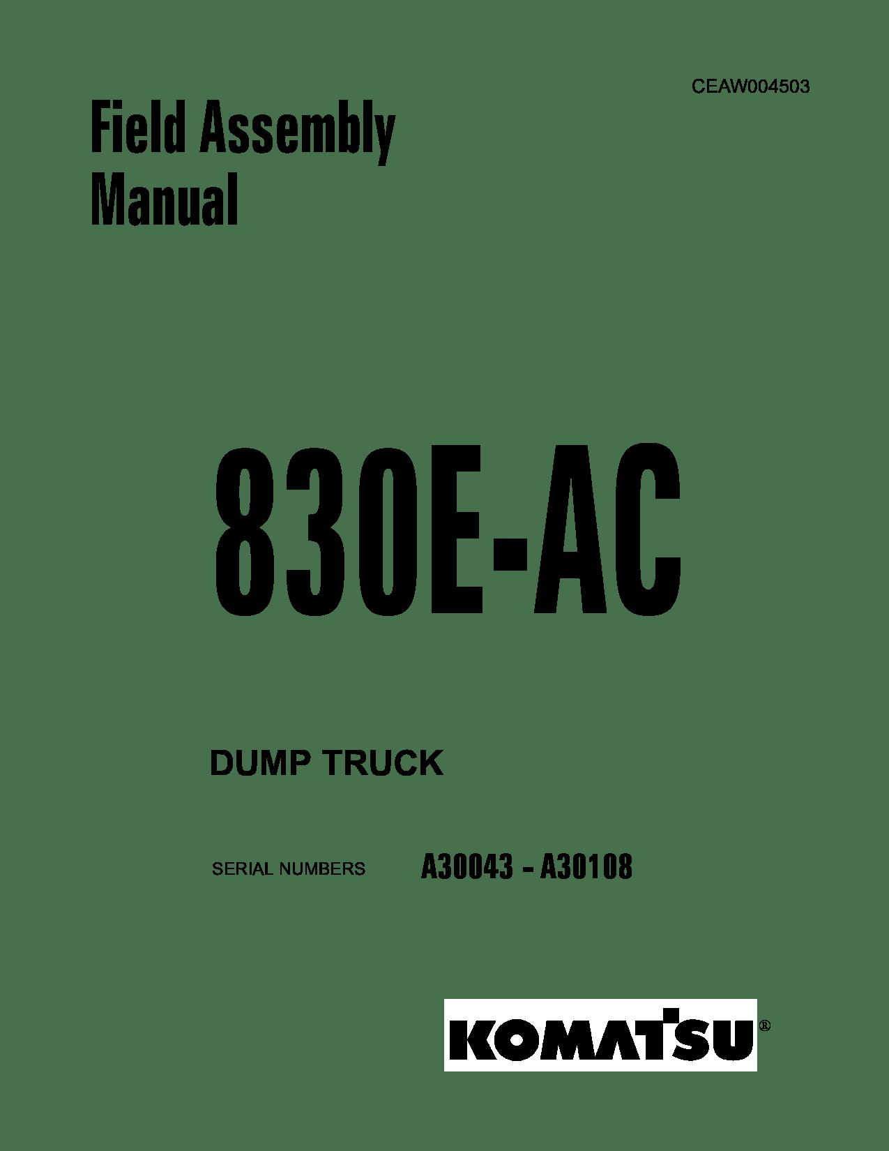 Komatsu 830E-AC Operation and Maintenance Manual Komatsu