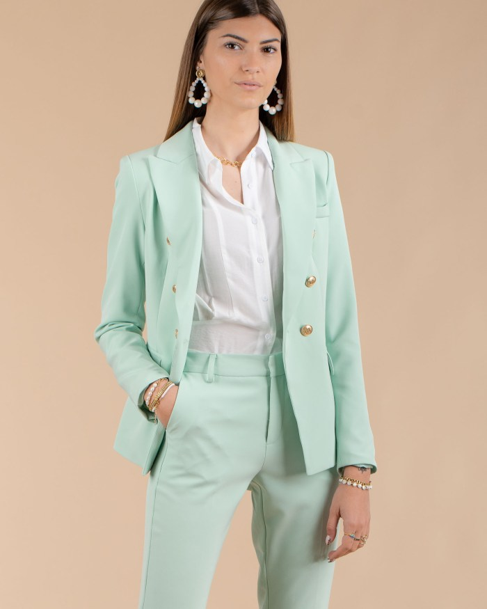 Veste blazer femme vert d'eau