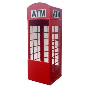 TPI Universal ATM Kiosk Enclosure - British Telephone Booth Style