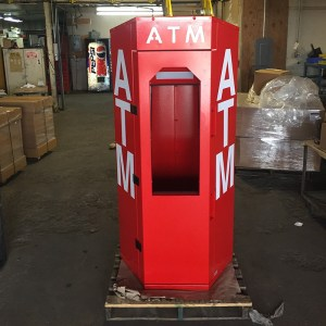 TPI Hexagon ATM Security Kiosk Enclosure in Red