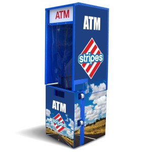 Outdoor Flat Front ATM Enclosure Back Graphic Panel