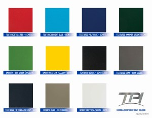TPI Standard Powder Coat Colors for Security Enclosures