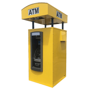 Drive up steel ATM Security Enclosure with lighted topper