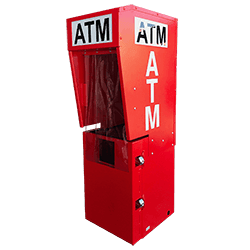 Outdoor Steel ATM Security Enclosure with Lighted Topper