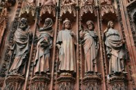 Carved entrance Notre Dame of Strasbourg Germany