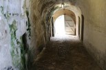 Medieval castle walkway