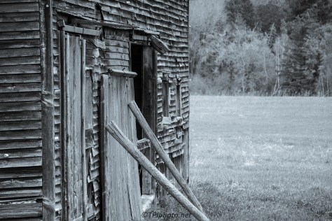 Country Barn In Monochrome