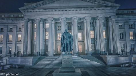 US Treasury, At Night - click to enlarge