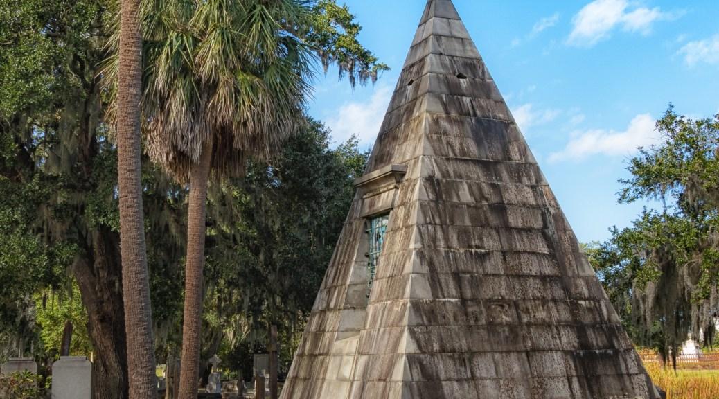 Smith Pyramid Mausoleum, Magnolia Cemetery - click to enlarge