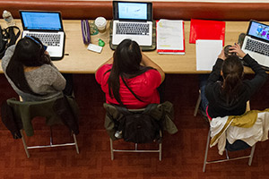 Students at Workstations
