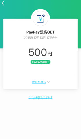 PayPay500円分