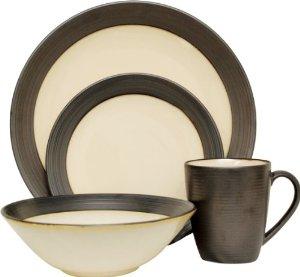 Stoneware Dinner Set - Mine was Brown & Burnt Orange
