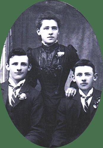 L to R: Edward, Sarah & Herbert Bailey