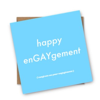 Gay And Lesbian Engagement Cards