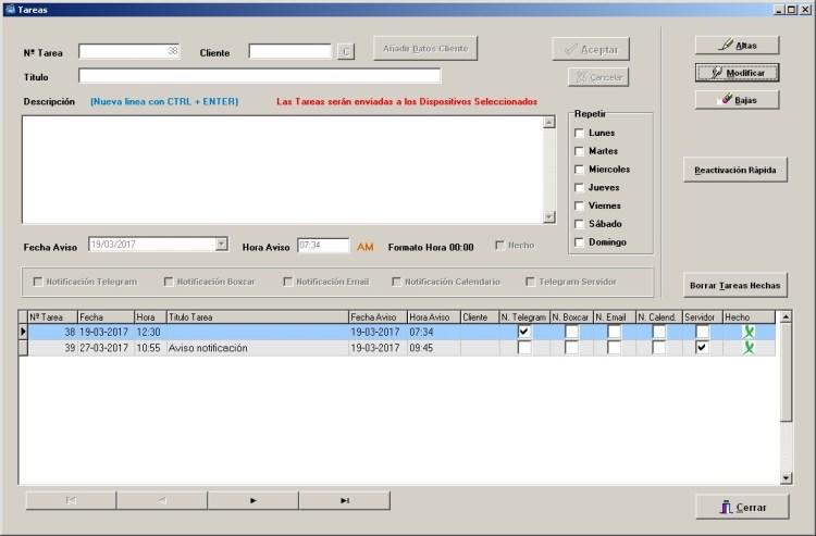 Tareas programadas en el servidor