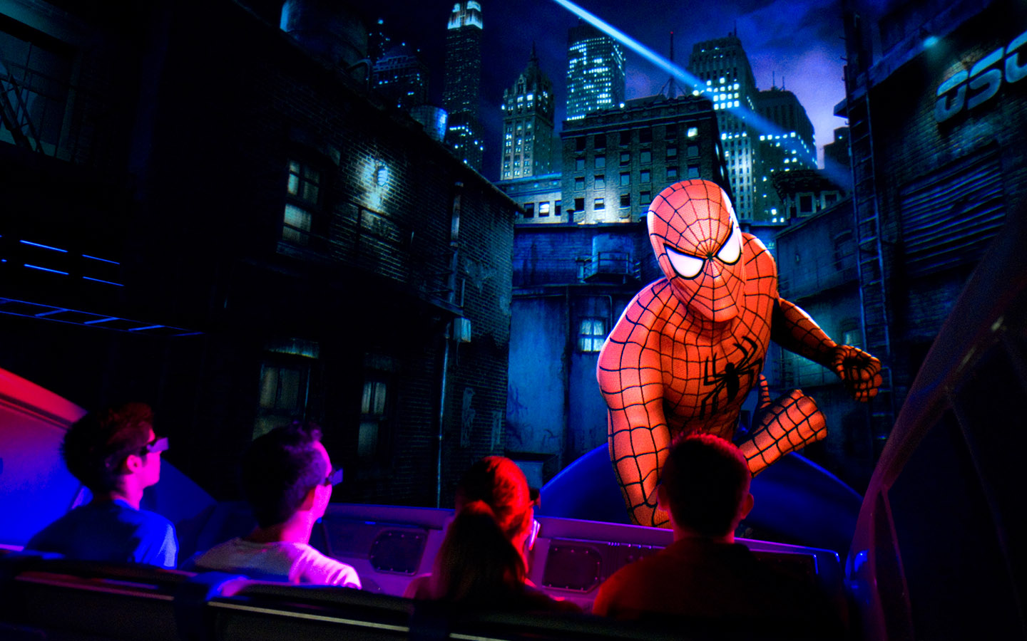 Swing through the streets of New York with Spider-Man on The Amazing Adventures of Spider-Man at Universal's Islands of Adventure
