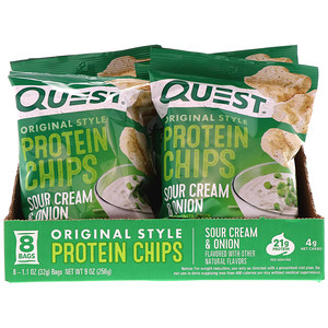 Quest Nutrition, Original Style Protein Chips Sour Cream & Onion Flavor