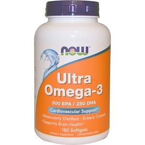 Now Foods, ウルトラオメガ3, 500 EPA/250 DHA