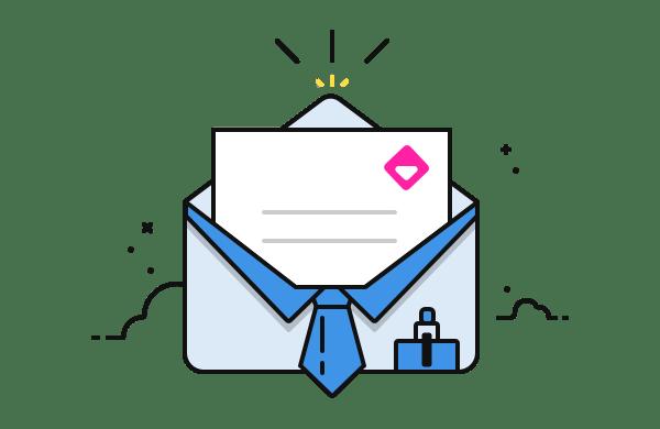 profesyonel e-posta ilüstrasyon